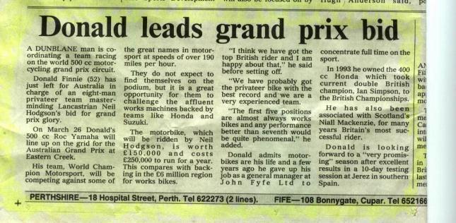 Donald to Grand Prix