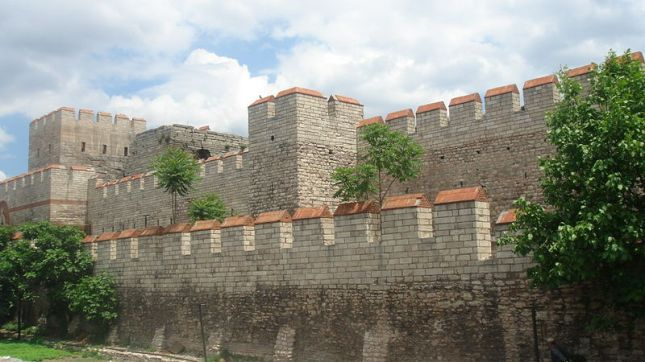 Theodosian walls from inside